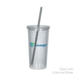 Newport Acrylic Tumbler With Straw