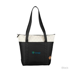 Quilted Zippered Boat Tote