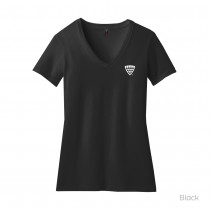 District Made® Ladies Perfect Blend® V-Neck Tee