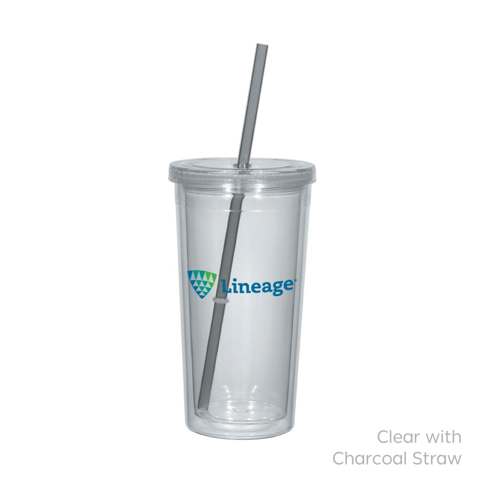 Newport Acrylic Tumbler With Straw