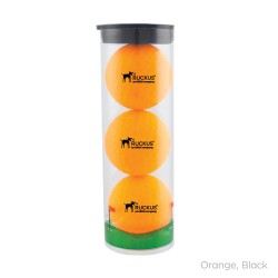 Clear Tube with 3 Volvik Vivid Golf Balls