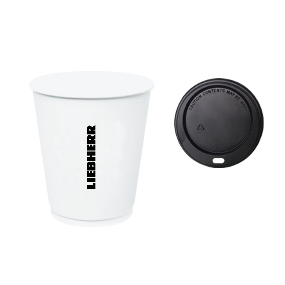 Liebherr 12oz Insulated Paper Cup with Lid (Pack of 20)