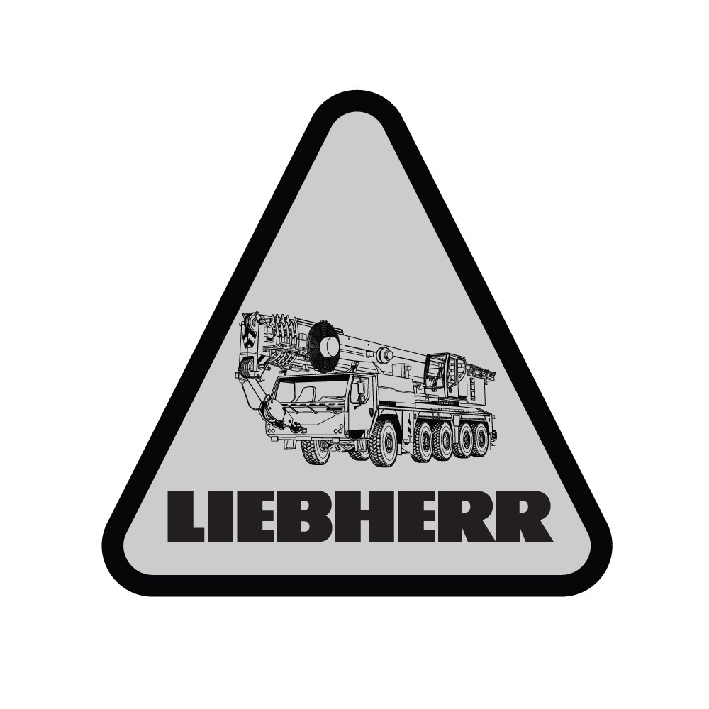 Liebherr Mobile Crane Decal (Pack of 10)