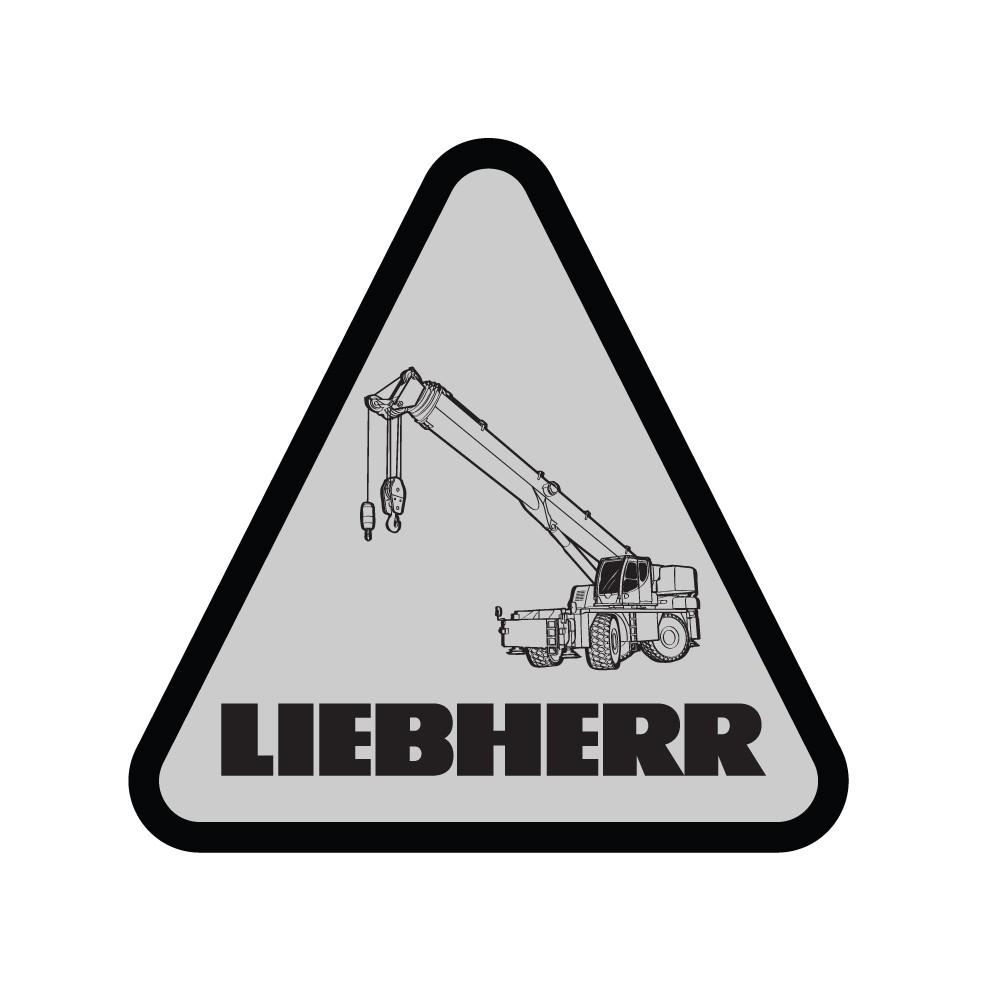 Liebherr Rough Terrain Crane Decal (Pack of 10)