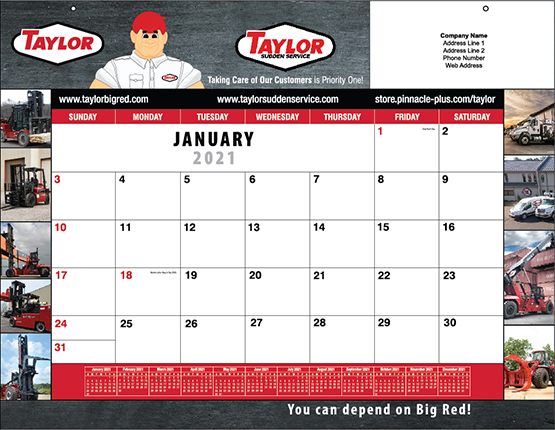 2018 Taylor Calendar